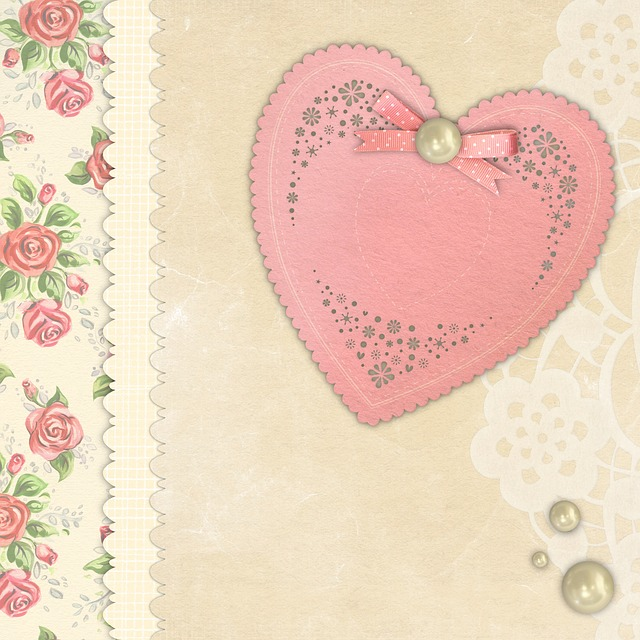 Free download Background Heart Floral free illustration to be edited with GIMP online image editor
