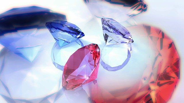 Free download Diamonds Red Blue free illustration to be edited with GIMP online image editor