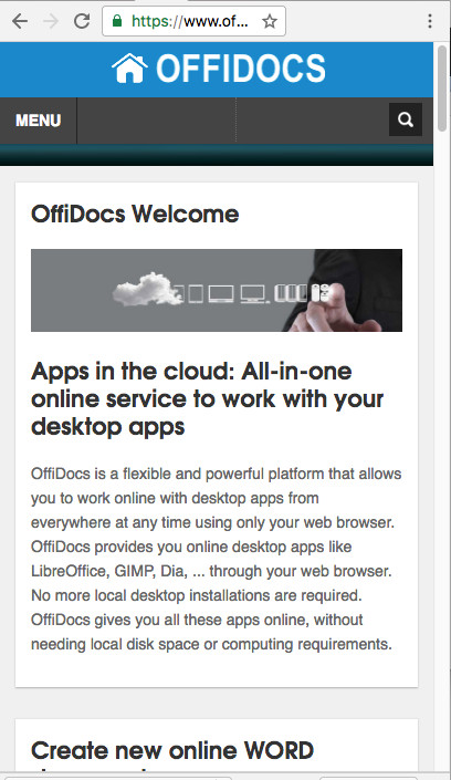 OffiDocs website for mobile