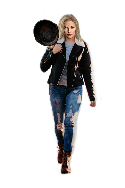 Free download Frying Pan Woman Weapon free illustration to be edited with GIMP online image editor