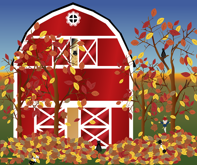 Free download Graphic Fall FarmFree vector graphic on Pixabay free illustration to be edited with GIMP online image editor