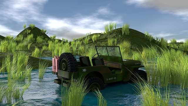Free download Jeep War Army free illustration to be edited with GIMP online image editor