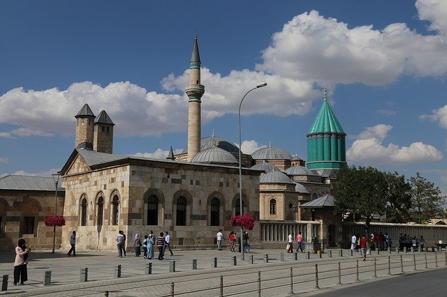 Free download Mevlana Konya Cami free photo template to be edited with GIMP online image editor