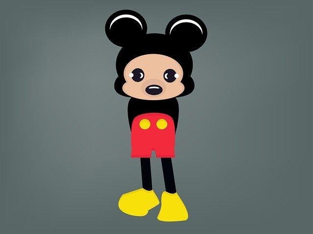 Free download Mickey Mouse Cartoon Disney free illustration to be edited with GIMP online image editor