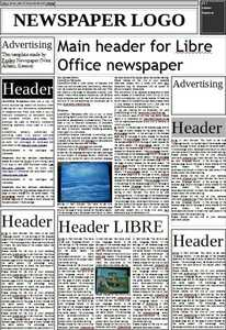 Free download Newspaper DOC, XLS or PPT template free to be edited with LibreOffice online or OpenOffice Desktop online