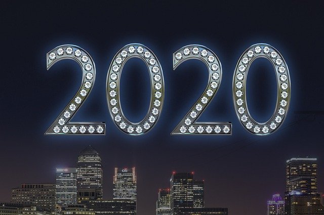 Free download New Year 2020 Happy -  free illustration to be edited with GIMP online image editor