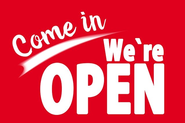 Free download Opening Hours Open Working Time free illustration to be edited with GIMP online image editor