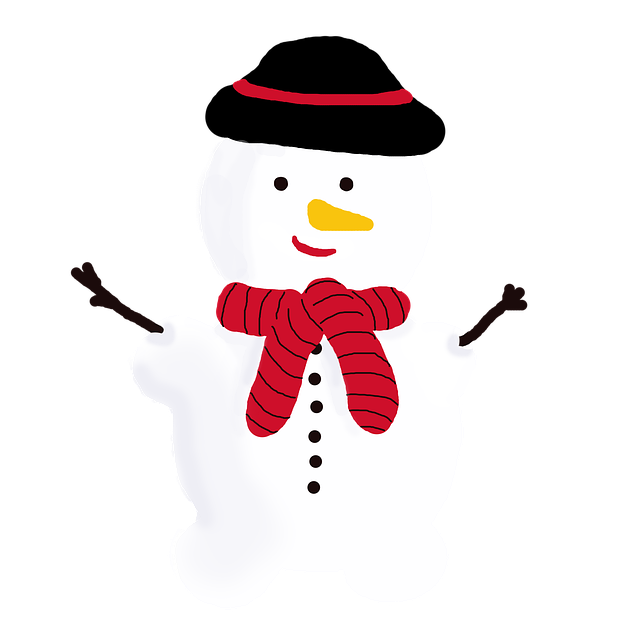 Free download Snowman Winter Cold -  free illustration to be edited with GIMP online image editor