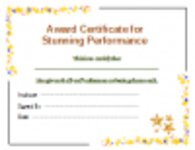 Free download Award Certificate for Performance Microsoft Word, Excel or Powerpoint template free to be edited with LibreOffice online or OpenOffice Desktop online