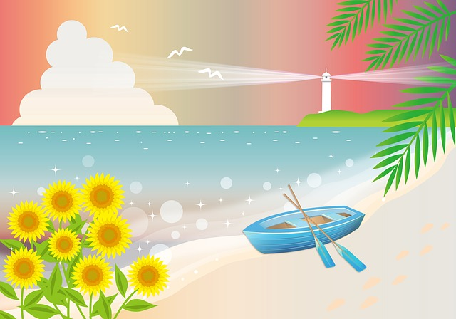 Free download Beach Background Sea Ocean free illustration to be edited with GIMP online image editor
