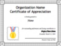 Free download Certificate of Appreciation Template 1 Microsoft Word, Excel or Powerpoint template free to be edited with LibreOffice online or OpenOffice Desktop online