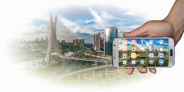 Free download City Panorama Smartphone free photo template to be edited with GIMP online image editor