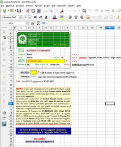 Free download Codice Fiscale Italia - Italian Fiscal Code DOC, XLS or PPT template free to be edited with LibreOffice online or OpenOffice Desktop online