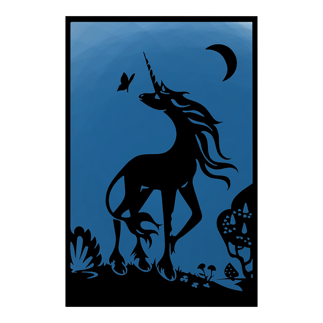 Free download Dark Unicorn Tarot free illustration to be edited with GIMP online image editor