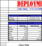 Free download Deployment Countdown Tracker Microsoft Word, Excel or Powerpoint template free to be edited with LibreOffice online or OpenOffice Desktop online