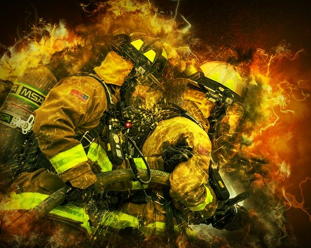 Free download Fire Fighters Portrait free illustration to be edited with GIMP online image editor
