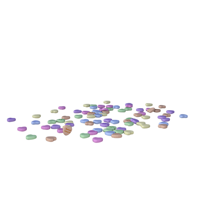 Free download Hearts Scattered Colors free illustration to be edited with GIMP online image editor
