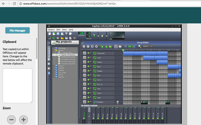 Music creation editor - LMMS online MultiMedia Studio