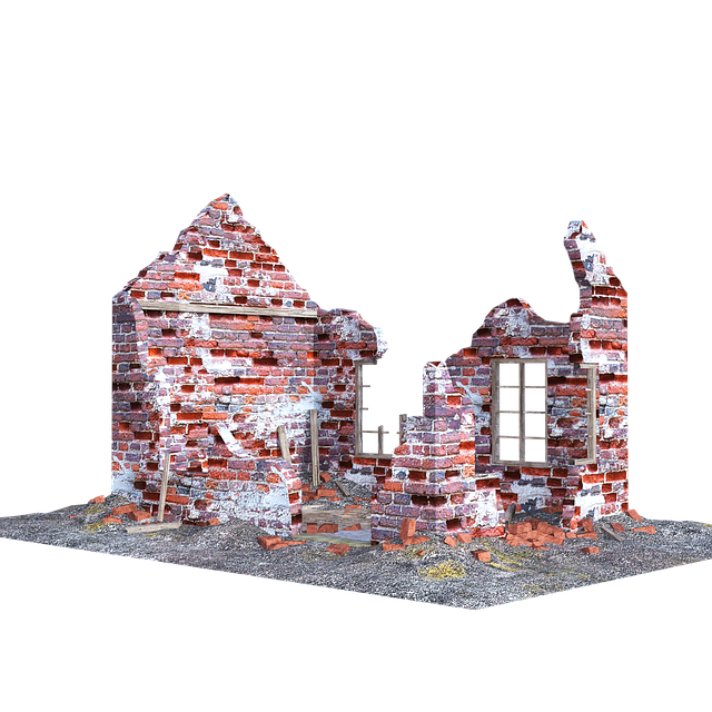 Free download Ruined House Isolated Bricks free illustration to be edited with GIMP online image editor