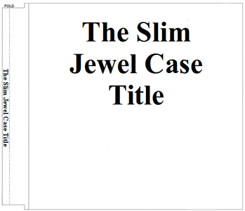 Free download Slim CD/DVD Jewel Case Cover Templates (Letter) DOC, XLS or PPT template free to be edited with LibreOffice online or OpenOffice Desktop online