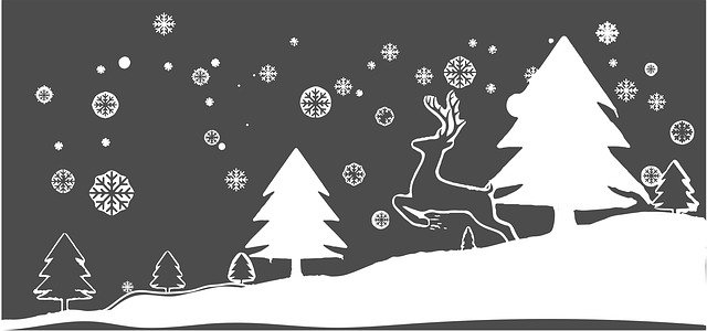 Free download Snows Reindeer Christmas free illustration to be edited with GIMP online image editor