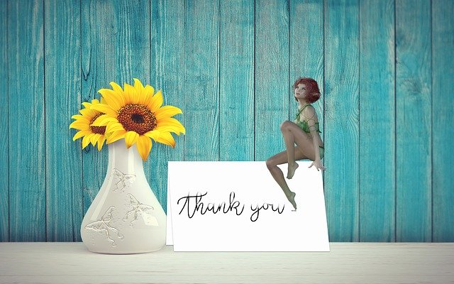 Free download Thank You Card Fairy free illustration to be edited with GIMP online image editor
