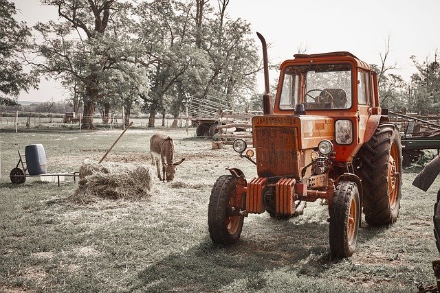 Free download Tractor Farm Donkey free photo template to be edited with GIMP online image editor