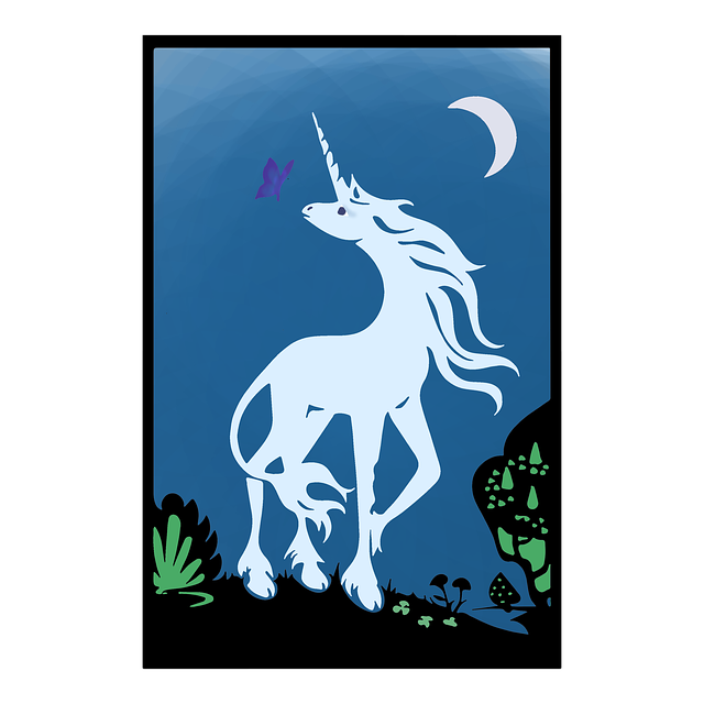 Free download Unicorn Tarot Card free illustration to be edited with GIMP online image editor