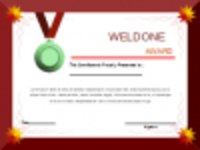 Free download Well Done Award Certificate Template Microsoft Word, Excel or Powerpoint template free to be edited with LibreOffice online or OpenOffice Desktop online