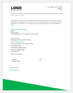 Template Microsoft Work Completion Certificate for OffiDocs